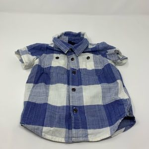 Baby Gap 18-24 Month Plaid Button Down T Shirt